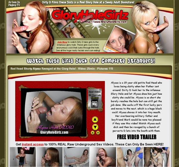 Gloryholegirlz.com Network
