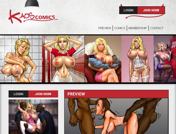 Login For Kaos Comics