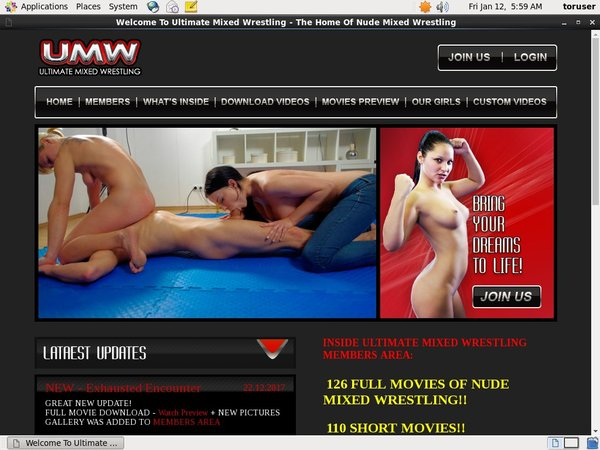 Ultimatemixedwrestling.com Join With Phone